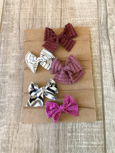 Headbands with Mini Bows Set of 5