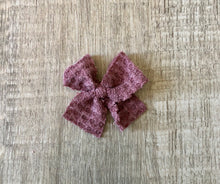 Load image into Gallery viewer, Waffle Hair Bow- Mini