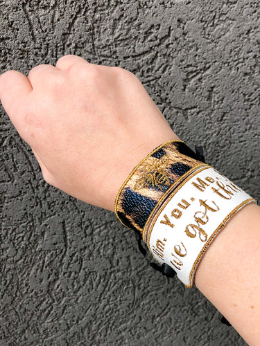 "Tia Bee Stokes Inspired Wrist Cuffs ""Subtle Bee and We Got This"""