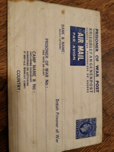 British PoW Post Envelope
