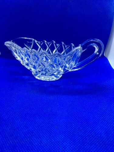 vintage cut glass sauce boat. Small, cute and cheap. Not like my ex-wife