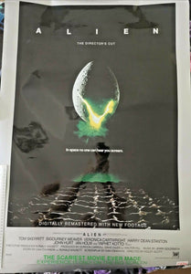 Alien Director's Cut Original 27 x 40 Vintage Movie Poster - high gloss metallic