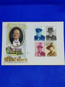 October 1974 First Day Cover; Sir Winston Churchill; Nice Cover