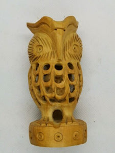 Wooden Hand Carved Owl Within An Owl