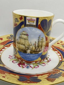 Royal Worcester commemorative mug and plate from the Nelson Collection
