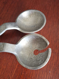 art deco aluminium salad serving spoons