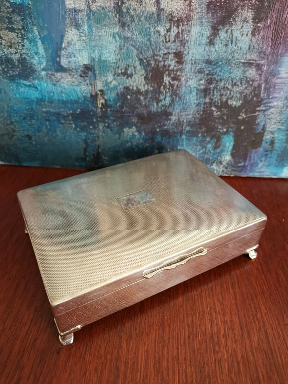 Stunning SILVER PLATED Cigarette Box