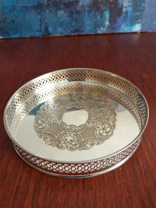 A Vintage Silver Plated Gallery Tray With Decorated Patterns. Very Ornate.