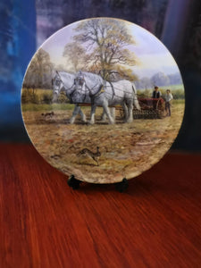 "Royal Doulton "" The Drill to the Furrow "" by Spencer Coleman Shire Horses"