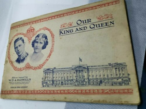 Wills cigarette cards complete album 'Our King and Queen' from 1937