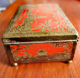 Rothmans Pall Mall red enamel Chinese cigarette box