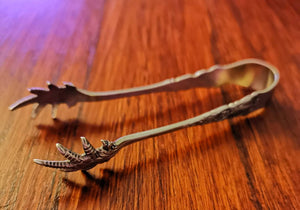 Silver plated sugar tongs 1895