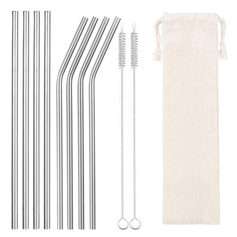 EcoWaves Stainless Steel Straw Set