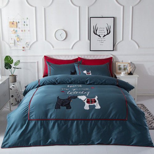 Luxury Egyptian 4 piece cotton bed set