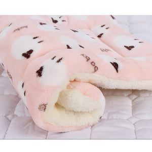 Pet bed blanket for small to medium sized dogs