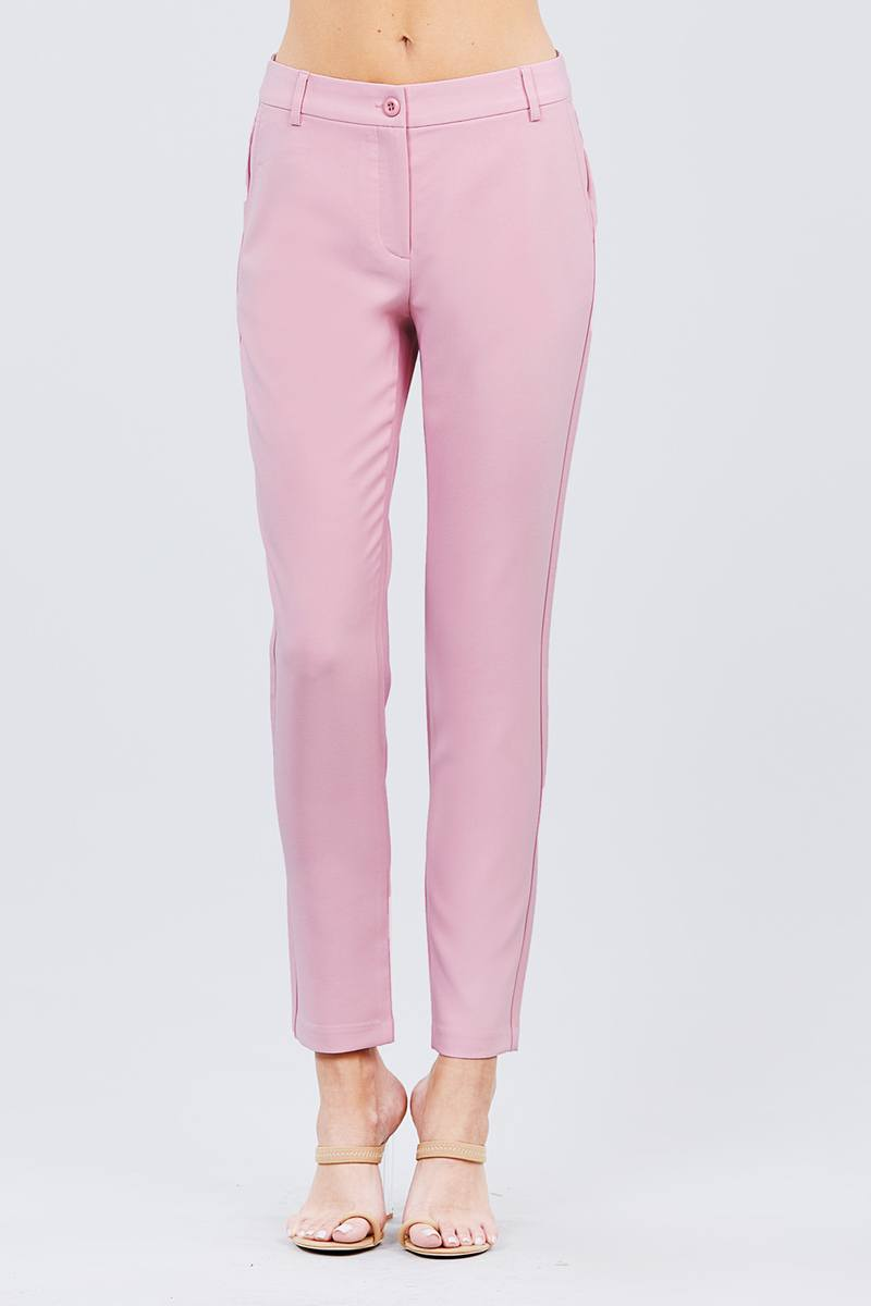 Seam Side Pocket Classic Long Pants