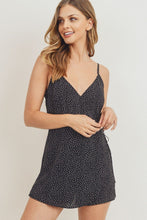 Load image into Gallery viewer, Wrap surplice polka dots spaghetti strap romper