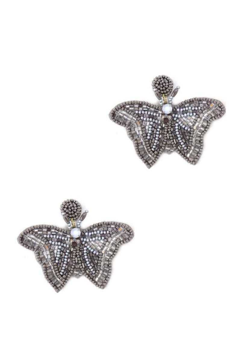 Butterfly Beaded Fashion Earrings
