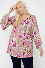 Load image into Gallery viewer, Floral, Bubble Sleeve Tunic