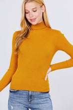 Load image into Gallery viewer, Turtle Neck Viscose Rib Sweater