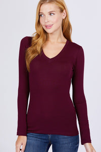 Cotton Jersey V-neck Top