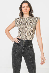 A Printed Knit Bodysuit