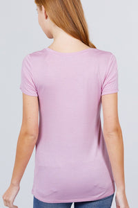 V-neck Rayon Jersey Top