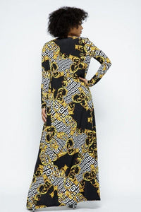 Venechia Print Tube Dress With Cardigan Set