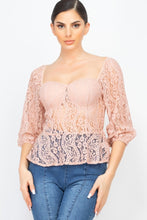 Load image into Gallery viewer, Smock Waist Lace Embroidered Top