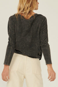 A Mineral Washed Knit Top