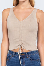 Load image into Gallery viewer, Slvless Shirring Tie Rib Sweater Top