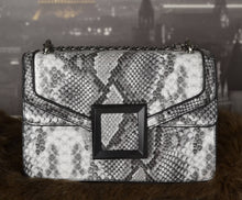 Load image into Gallery viewer, GREY Women's Fashion Snakeskin Crossbody Bag Convertible Shoulder Bag with Chain Strap