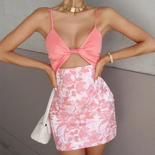 Load image into Gallery viewer, CUTIE MINI SKIRT CROP TOP SET