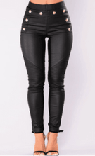 Load image into Gallery viewer, High waist leggings Skinny Waterproof PU women leather pants