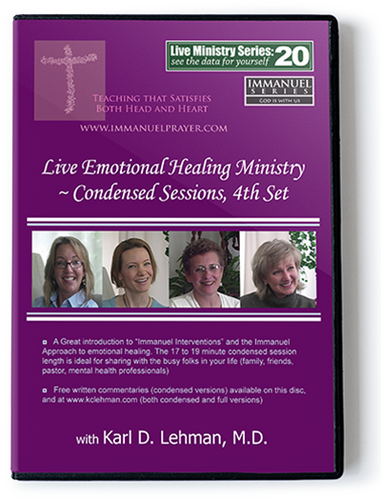 Live Emotional Healing Ministry ~ Condensed sessions, 4th set (LMS #20)