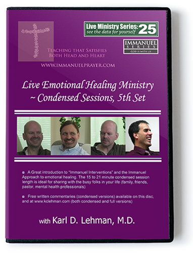 Live Emotional Healing Ministry ~ Condensed sessions, 5th set (LMS #25)