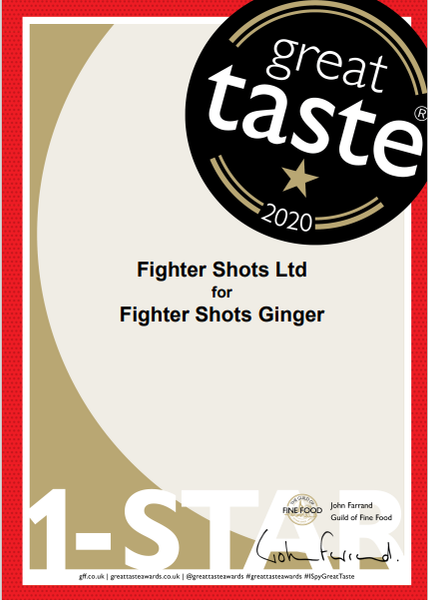 Fighter Shots is among the Great Taste winners of 2020