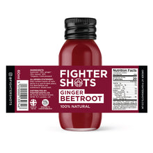 Load image into Gallery viewer, Fighter Shots 100% VEGAN Ginger + Beetroot, 6 or 12 x 60ml