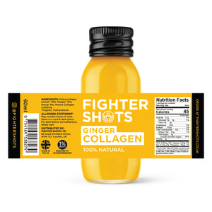 Ginger + Marine Collagen 3,000mg, 6 or 12 x 60ml