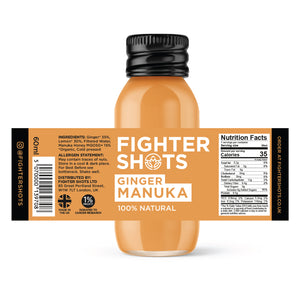 Ginger + Manuka Honey 6 or 12x 60ml
