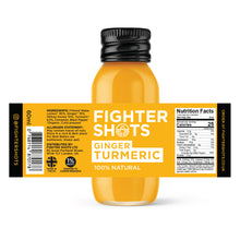 Load image into Gallery viewer, Fighter Shots Ginger + TURMERIC  6 or 12x 60ml