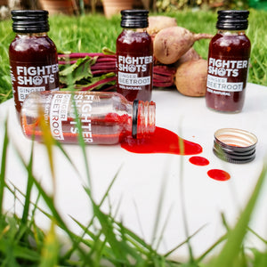 Fighter Shots 100% VEGAN Ginger + Beetroot, 6 or 12 x 60ml