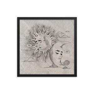 I Love You So Much But... - Framed Print