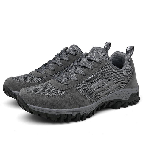 Men Fabric Non Slip Soft Sole Sport Casual Hiking Sneakers