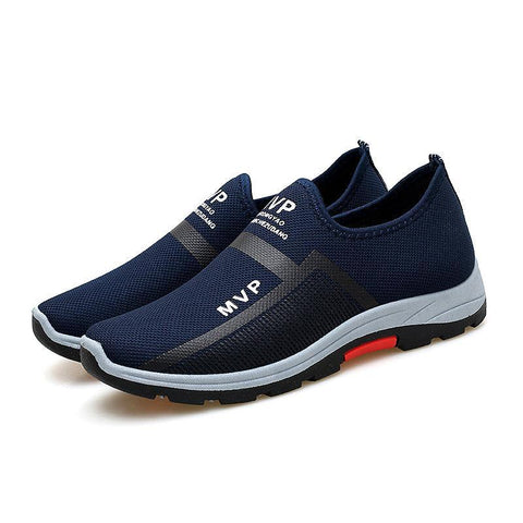 Men Mesh Breathable Outdoor Slip Resistant Slip On Sneakers
