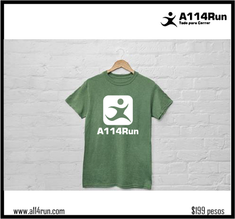 Playera dominguera A114Run manga corta.