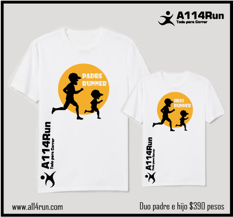 Playeras Duo padre e hijo RUNNERS.