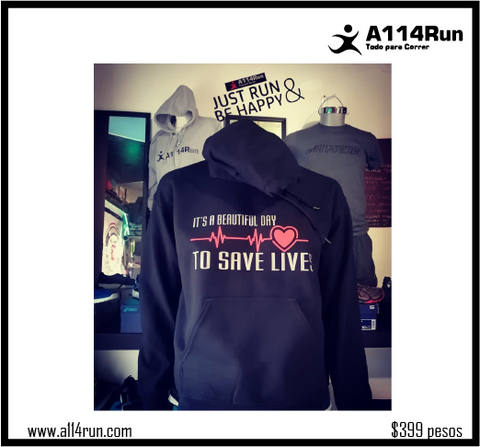 SUDADERA SAVE LIVES,