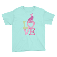 Youth Short Sleeve T-Shirt Love Kitty