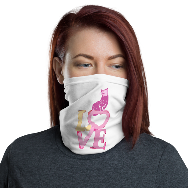 Neck Gaiter Love Kitty